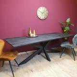 Eetkamertafel New York - Rechthoekig - metaal met mangohout_