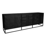 Dressoir New York - Zwart - Metaal - 210 cm_