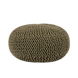 Poef Knitted - Army green - Katoen - L_