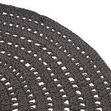 Vloerkleed Knitted - Antraciet - Katoen - 150x150 cm_