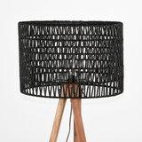 Vloerlamp Stripe - Zwart - Mangohout_