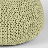 Poef Knitted - Groen - Katoen - L_