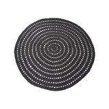 Vloerkleed Knitted - Zwart - Katoen - 150x150 cm_