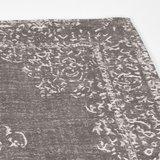 Vloerkleed Vintage - Grijs - Katoen - 140x160 cm_