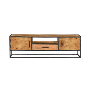 Tv-meubel Denver - Bruin - metaal - 145cm