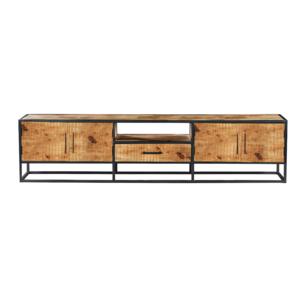 Tv-meubel Denver - Bruin - metaal - 240cm