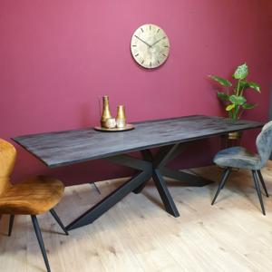 Eetkamertafel New York - Rechthoekig - metaal met mangohout