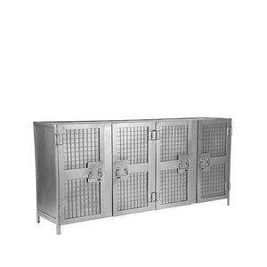 Dressoir Gate - Burned Steel - Metaal - 170 cm