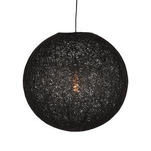 Hanglamp Twist - Zwart - Vlas - XL