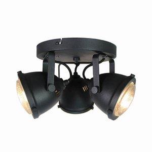 Spot Moto - Zwart - Metaal - 3 Lichts