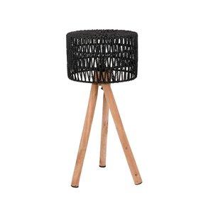Tafellamp Stripe - Zwart - Katoen