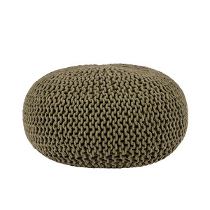 Poef Knitted - Army green - Katoen - L