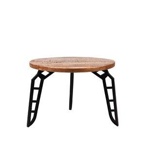 Salontafel Flintstone - Rough - Mangohout - Rond - 60 cm
