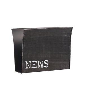 Wanddecoratie Magazinehouder - Zwart - Metaal