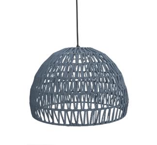 Hanglamp Rope - Lichtgrijs - Stof - M