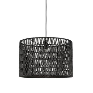 Hanglamp Stripe - Zwart - Katoen