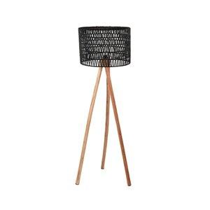 Vloerlamp Stripe - Zwart - Mangohout
