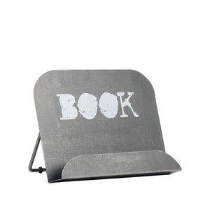 Kookboekstandaard 27x14x20 cm - Antiek grijs - Metaal