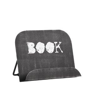Kookboekstandaard 27x14x20 cm - Zwart - Metaal