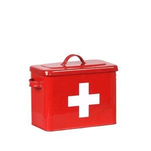 Opbergblik EHBO Opbergkist - Rood hoogglans - Metaal