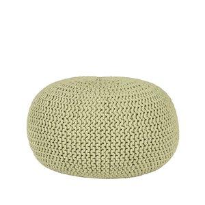 Poef Knitted - Groen - Katoen - L
