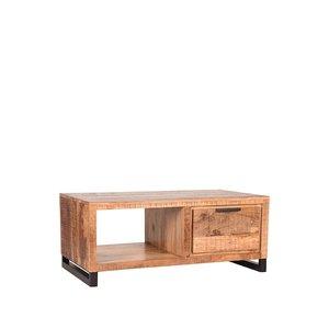 Salontafel Glasgow - Rough - Mangohout - 110x60 cm