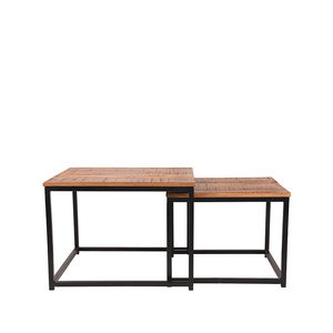 Salontafel Set Couple - Rough - Mangohout