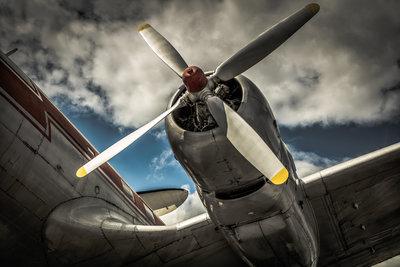 Speyer red plane propellor b/w