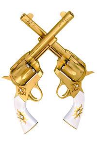 Two golden Handguns