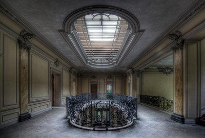 Hallway with Fenced Balcony