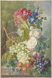 Stilllife Flowersers/fruits