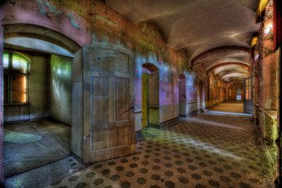 Colored Hallway