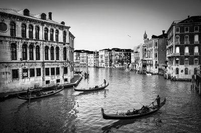 Old Fashioned Venice b/w