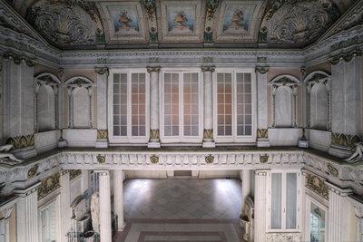 Hallway Painted Ceiling