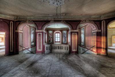 Hallway Red Architecturees