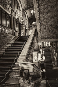 Palau Stairs Sepia
