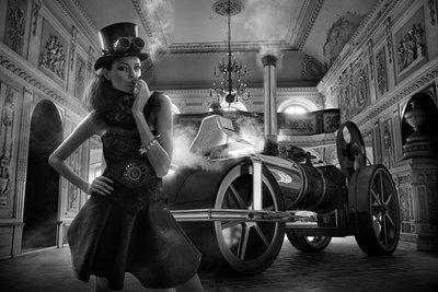 Steam glamour b/w