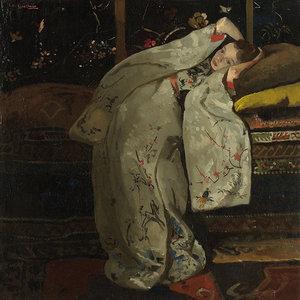 Girl white Kimono