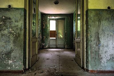 Abandoned grungy interior